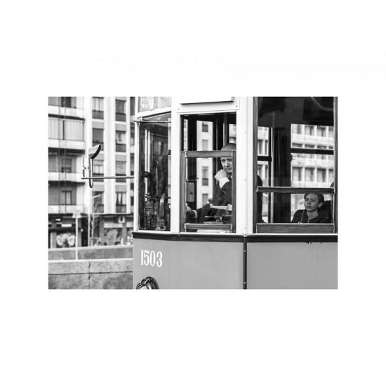 Un vieux tramway, Milan - François-Régis Fournier